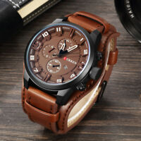 Curren 8225 Army Military Quartz Mens Watches Luxury Leather Men Watch