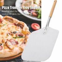 Aluminum Pizza Peel Shovel Paddle Pancake Oven Baking Tools with Wood Handle Hot