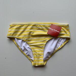 Hanna Andersson Girls NWT yellow striped bikini bottoms size 160 US 14/16