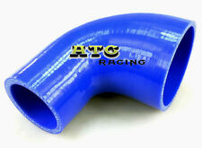 "Silicone 90 Degree Reducer Elbow Hose Intake Pipe 2.5"" 3"" inch 64mm - 76mm BLUE"