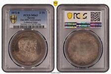 1872-B Saxony 2 Taler PCGS MS63 Anniversary / Lettered Edge / Dav-899
