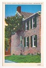 Postcard: Unusual House & Tree on Braddock Street, Winchester, VA