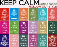 Wall Decor Decal Sticker Keep Calm And Carry On Muti Choice Hollow Out Style