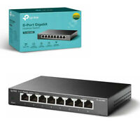 TP-Link TL-SG108S Network Switch 8-Port Gigabit Desktop Hub Ethernet Splitter