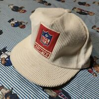 Vintage 90s Swingster ESPN NFL Snapback Hat Cap Corduroy White spell out USA