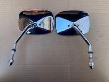 "Pair Genuine Harley Davidson ""Short Stem"" Chrome Side Motorcycle Mirrors"