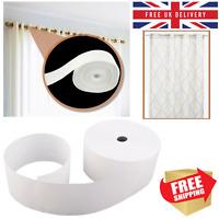 Curtain Header Tape 50 Meters Plain White Heading 10cm Wide Durable Curtain Tape
