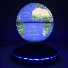 "6"" Blue Magnetic Levitation Globe Floating Levitating Rotating LED Earth Model"