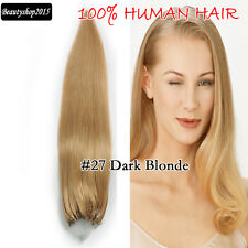 50gr/100gr Micro Ring 100% Human Hair Extensions Grade AAA Any Color Any Length