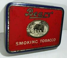 Old 2oz BEARS Smoking Tobacco MILD tin (blue border) made Wellington New Zealand