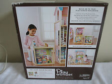 NEW Play Wonder Wooden Doll House Dollhouse Room Builder Pet Shop Furniture Set