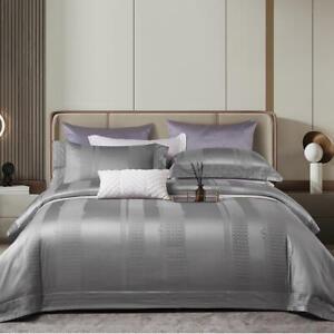140S Cotton Bedding set 4pcs Luxury Classic jacquard bedding bag flat sheet sets