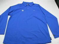 Vintage Nike Air Force Swoosh Athletic Long Sleeve Shirt Polo Extra Large Blue