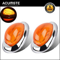 "2x 15LED 6"" Amber Cab Side Marker Signal Light For Freightliner Century Columbia"