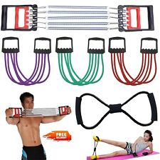 5-Spring Rubber Chest Expander Pull Stretcher Home Gym Muscle Training Exerciser