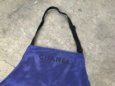 CHANEL Purple Apron Not for sale Super Rare Novelty Big Pockets Uniform