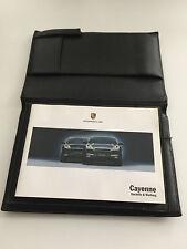 Porsche Cayenne Betriebsanleitung Ledermappe mit SCHECKHEFT + PCM
