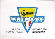 Unimoto Enduro 50cc, MOTOTOPO-motocicletas folleto de ventas - 1980s
