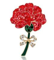 Beautiful Remembrance Day Poppy Brooch Red Flower Poppies Enamel Pin Badges