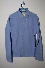 Abercrombie and Fitch Muscle Men Check Blue Button Front Long Sleeve Shirt - sz