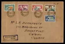 DR WHO 1941 PITCAIRN ISLANDS REGISTERED TO CANADA L183664