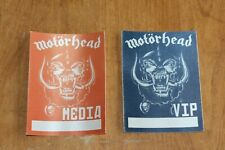 Motorhead -  2 x Unused Backstage Pass - lot # 2   - FREE SHIPPING - Motörhead