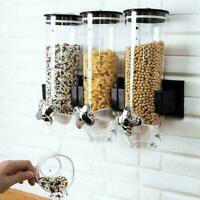 Kitchen Storage Food Dispenser Wall-mounted Self-service Cereal Machine S3A4