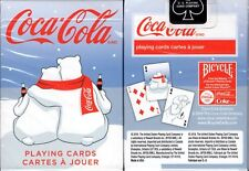 Coca-Cola Coke Holiday Polar Bear Scarf Playing Cards Poker Size Deck USPCC New