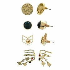 Captain Marvel 4-Piece Stud Earring Set - Avengers Cuff 4 Pairs