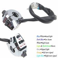 "22mm 7/8"" Handlebar Chrome Horn Headlight Turn Signal Switch 12V Motorcycle -US"