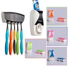 Dispenser Automatico Dentifricio Porta Spazzolino Montaggio Muro Bagno Casa Linq