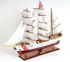 "USCG Eagle Training Tall Ship 36"" Wooden Model US Coast Guard Barque New"
