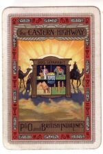 Wide Vintage P & O and British India Lines   = Herringbone Swap Playing Card