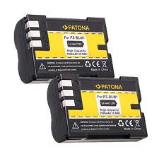 2x Batteria Patona 1500mAh li-ion per Olympus E-3,E-30,E300,E330,E500,E510,E520