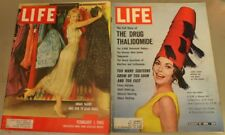 Lot 2 Life Magazines 2/1/60 Dinah Shore 8/10/62 Janet Leigh Ford Winston Salem