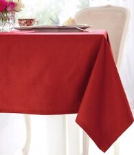 """Extra Large Red Cotton Tablecloth Rectangular Banquet Christmas Function 70x108"""""""