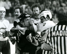 CHRIS NILAN TIGER WILLIAMS 8X10 PHOTO HOCKEY CANADIENS CANUCKS FIGHT PICTURE NHL