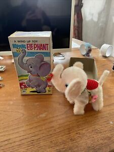 Vintage ALPS Tokyo Wind Uo Hopping Elephant Toy Very Old!! (not Working)