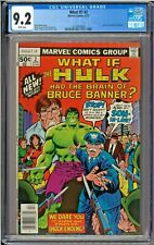 What if? #2 CGC 9.2 White Pages Hulk had the Brain of Bruce Banner