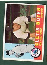 1960 TOPPS BB #109 CLETIS BOYER/YANKEES EX