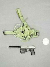"1:6 Dragon USMC USSOCOM MK23 Pistol & Holster 12"" GI Joe BBI Hot Dam Toys SEAL"