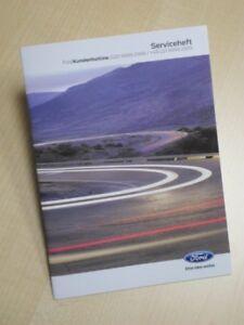 Ford Serviceheft Serviceplan - aktuellste deutsche Ausgabe