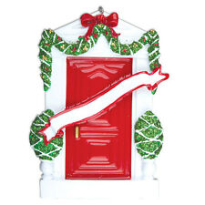Personalized Christmas Ornament Red Door New Home New apartment New family