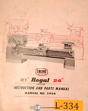 """LeBlond 21"""" and 24"""" Regal Lathe, Book 3904, Instructions and Parts Manual 1965"""