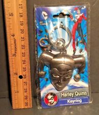 DC Comics HARLEY QUINN Head Keyring PEWTER Metal Keychain #45088 NEW