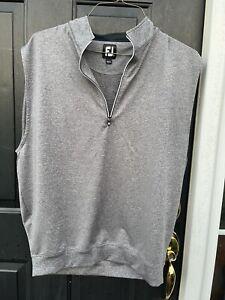 Footjoy Golf vest size large gray boho retro casual dress ECU