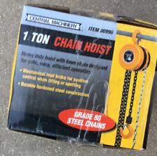 New Haul Master 1 Ton Manual Chain Hoist Vertical Lifting