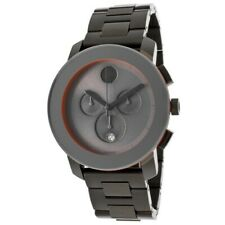 New Movado Bold 3600142 Chronograph Gray Ion-Plated Stainless Steel Men's Watch