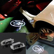 2× LED Car Door Light Projector Logo Ghost Lamp For MASERATI Quattroporte Ghibli