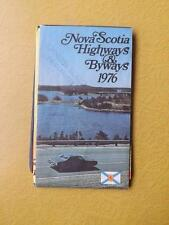 Map Nova Scotia Highways & Byways 1976 Travel Tourist Attractions Information